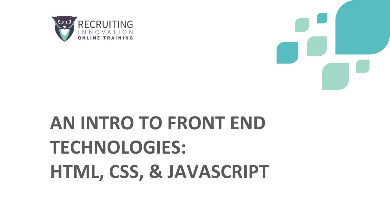 Intro to front end technologies html css javascript an intro to front end technologies html css javascript malvernweather Image collections