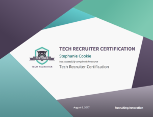 Tech Recruiter Certification