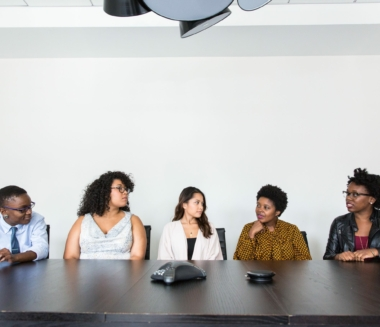 Professional people of color meeting